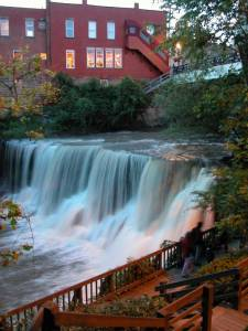 This is Chagrin Falls but also the inspiration for Goodness Falls