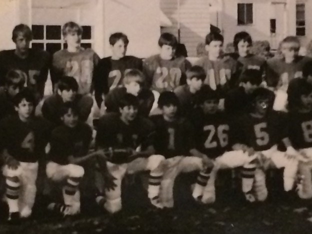 That's me, #1, on St. Mary 8th Grade Football Team.